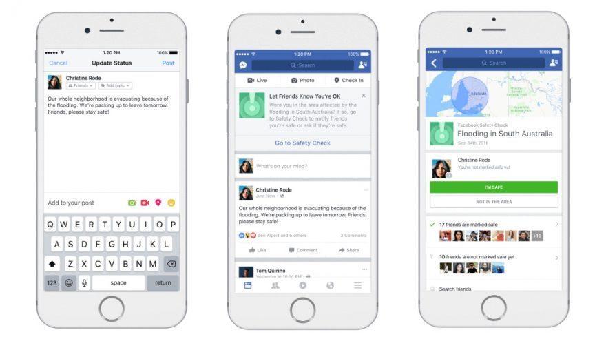 تحديث فيسبوك -ميزة التحقق من السلامة
