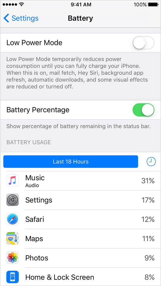 iphone-7-plus-battery-app إعدادات آيفون 7 بلس للبطارية