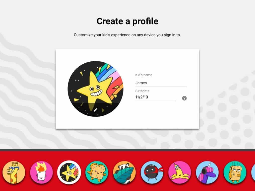 انشاء حساب يوتيوب لكل طفل حسب عمره