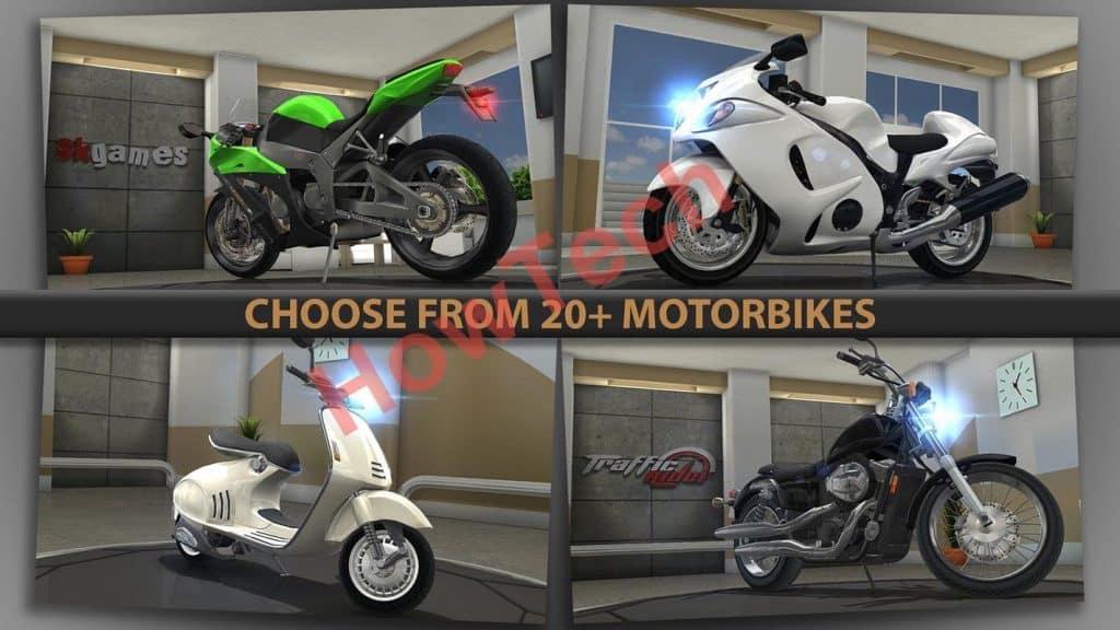 اختيار الدراجة النارية