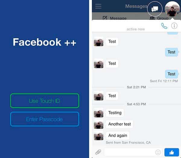 تنزيل فيس بوك بلس للايفون