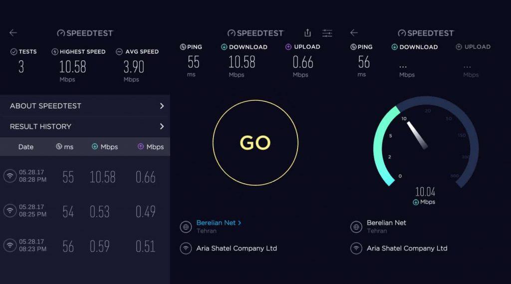 مميزات تطبيق internet speed test
