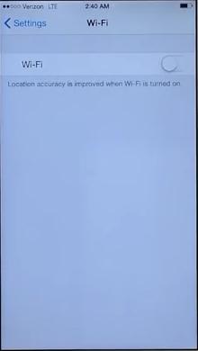تشغيل WiFi للايفون