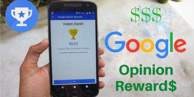 Google Opinion Rewards , جوجل بلاي , رصيد جوجل بلاي مجانا