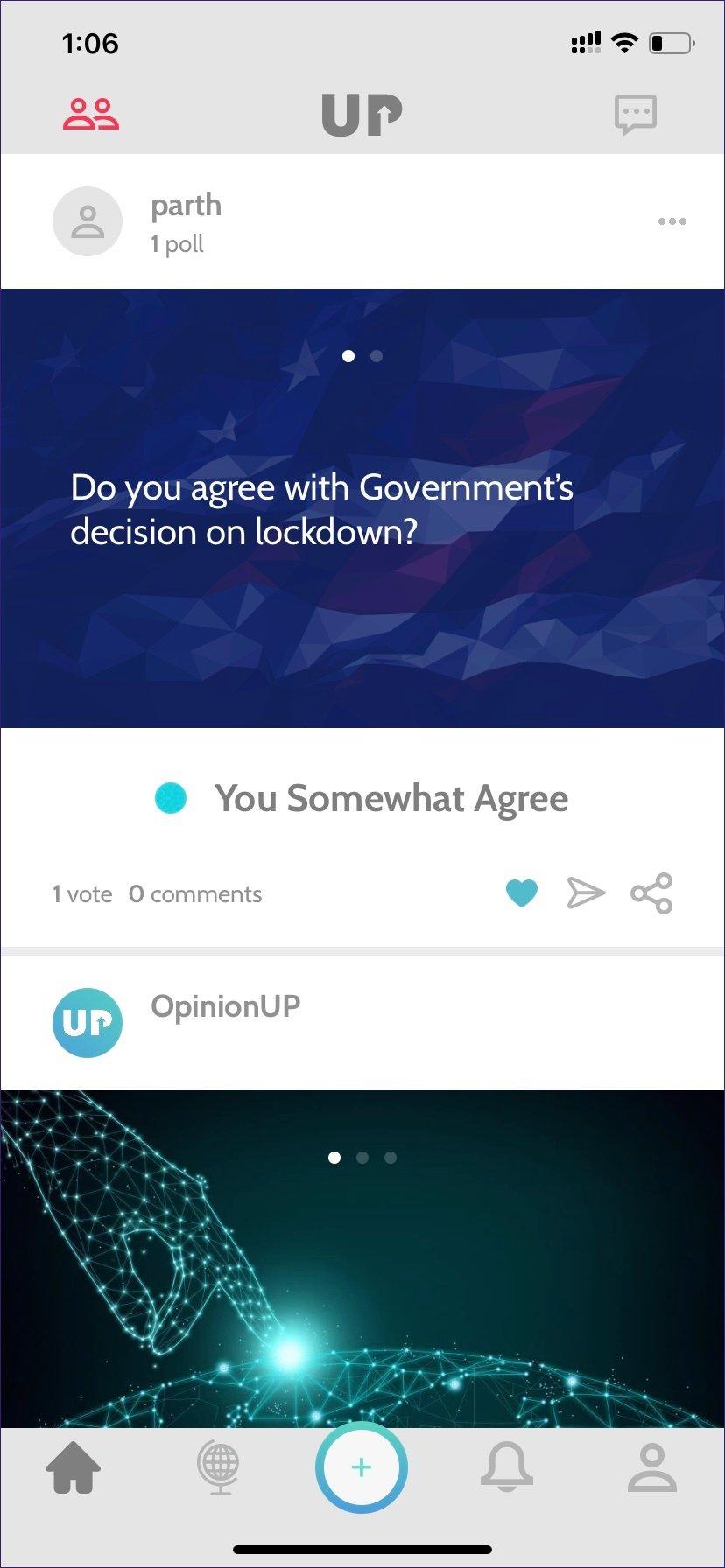 تطبيق استطلاعات الرأي