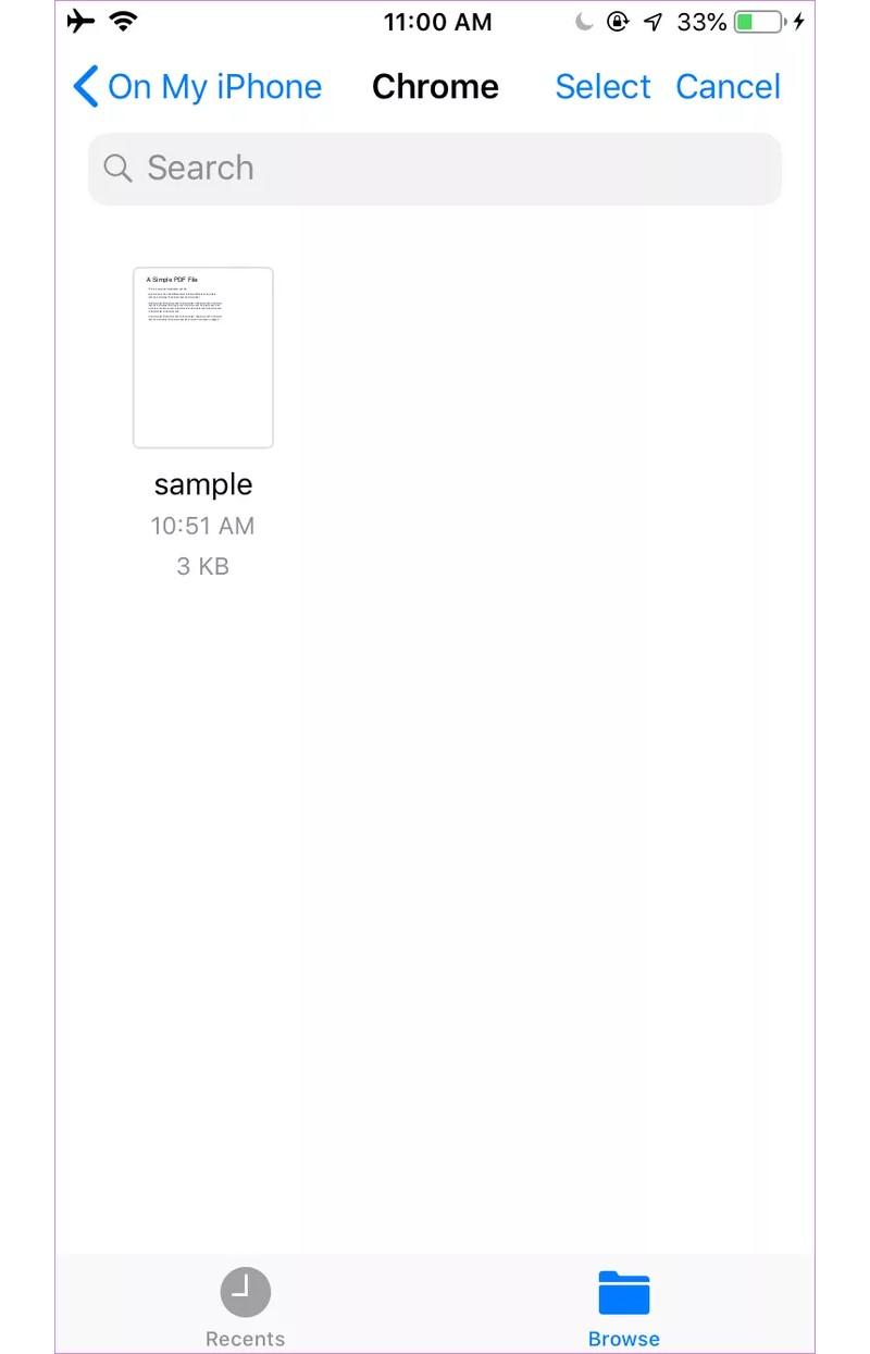 نقل ملف بصيغة PDF